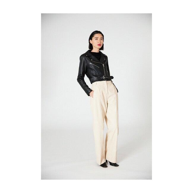 Jane Leather Jacket, Black
