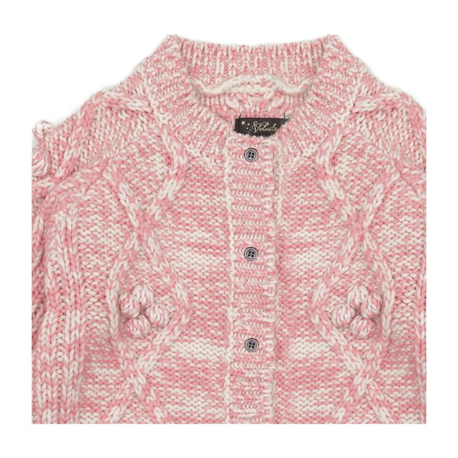 Harley Cardigan, Pretty in Pink Alpaca Wool Blend