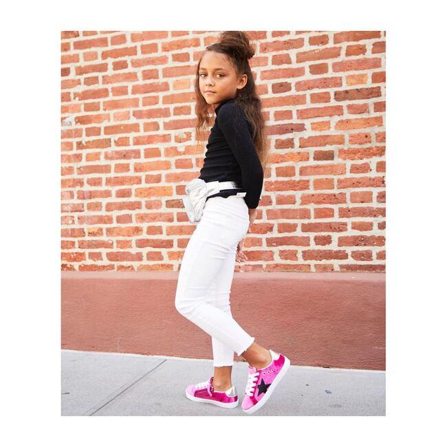 Mia Star Lace Sneaker, Magenta Velvet