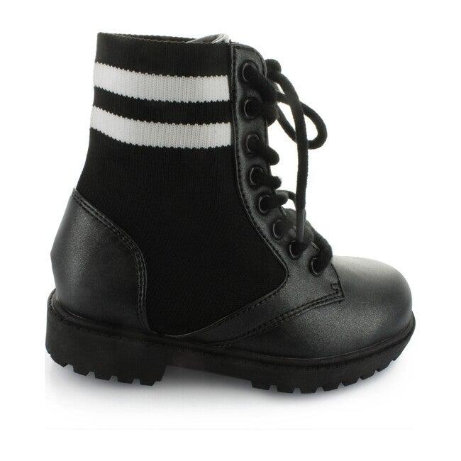 Dara's Lace Combat Boot, Black - Boots - 1