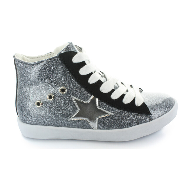 Arias Star Lace High Top, Silver Glitter