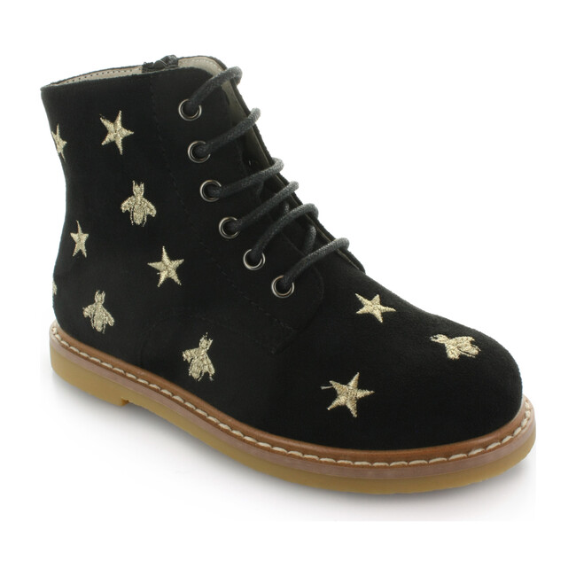 Junipers Star Lace Boot, Black