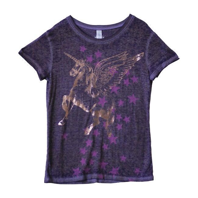 Flying Unicorn Tee, Purple