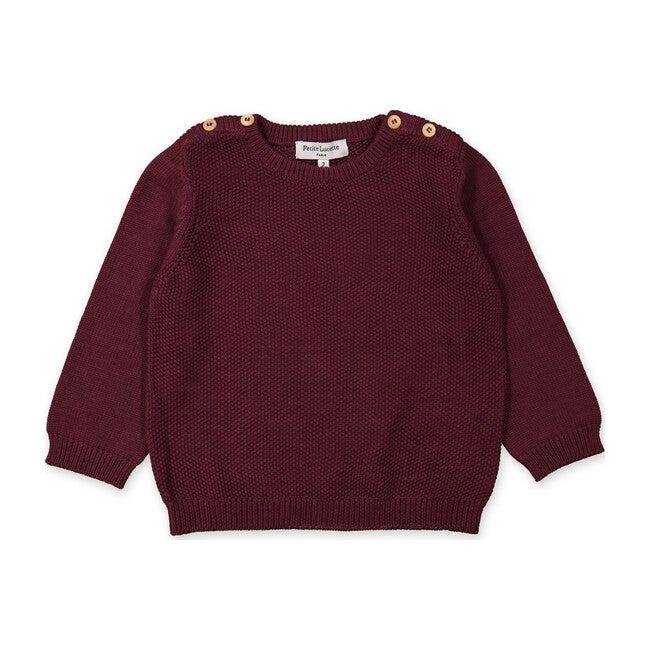 Felix Sweater, Burgundy Red - Sweaters - 1