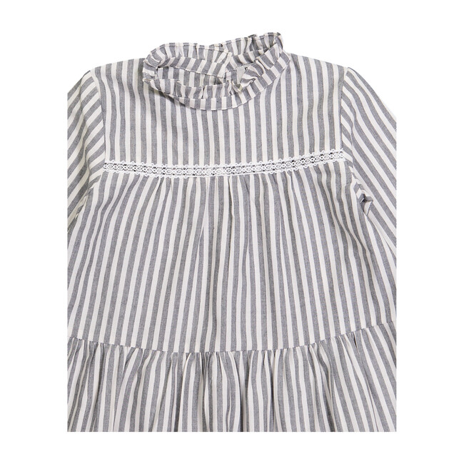 Elisabeth Dress, Grey Stripes