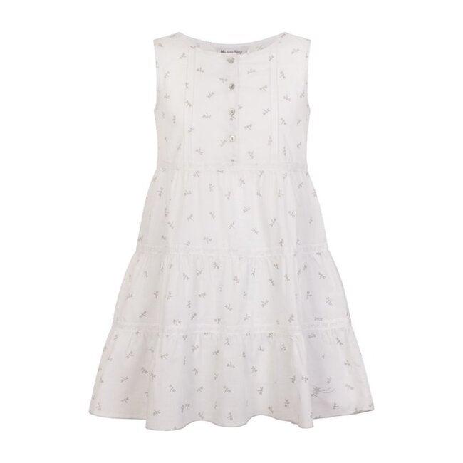 Dragonfly Organic Cotton Night Dress, White