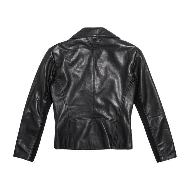 Dallas Smooth Leather Jacket, Black