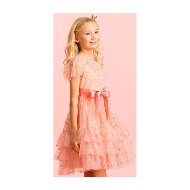Cinderella Party Dress, Pink Star Tulle