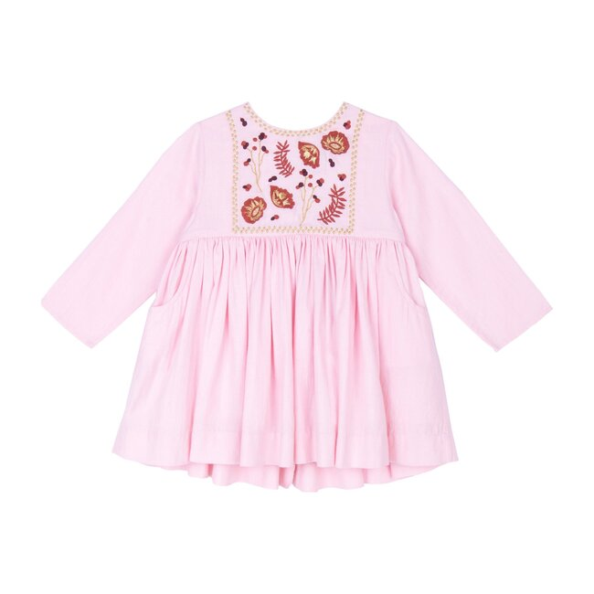 Camille Dress, Pretty in Pink Cotton Twill