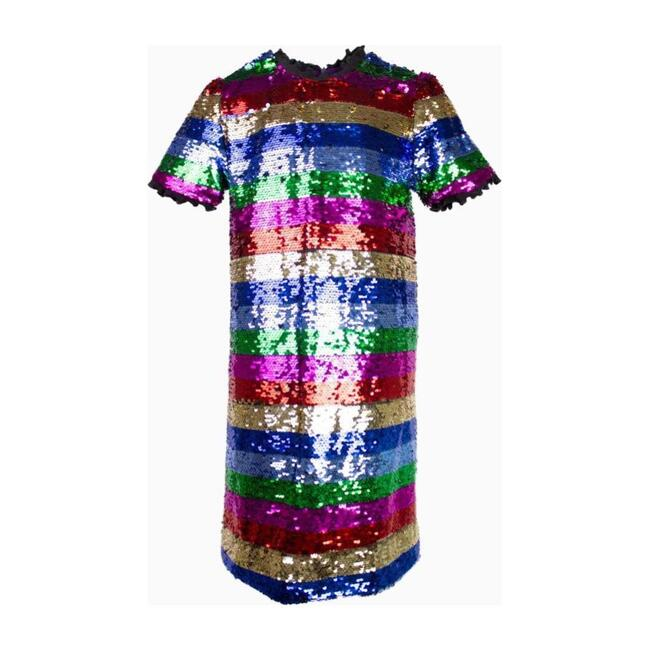 Chasing Rainbows Sequin Party Dress, Pink