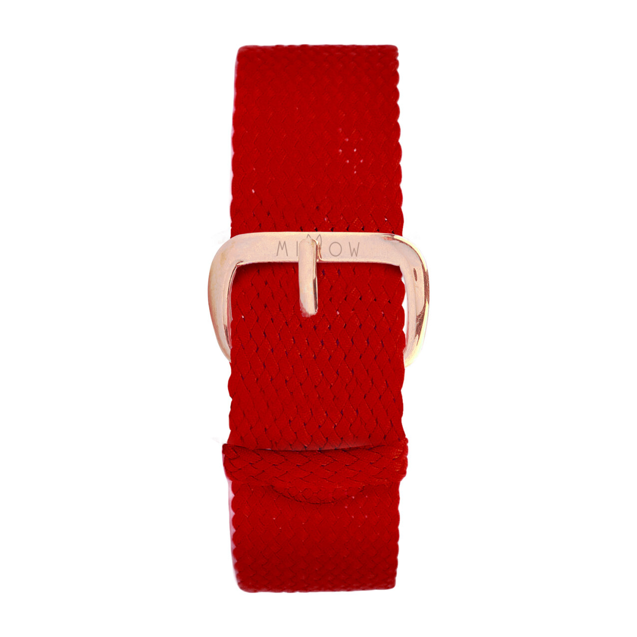 Braided Nylon Watch Band, Red and Rose Gold
