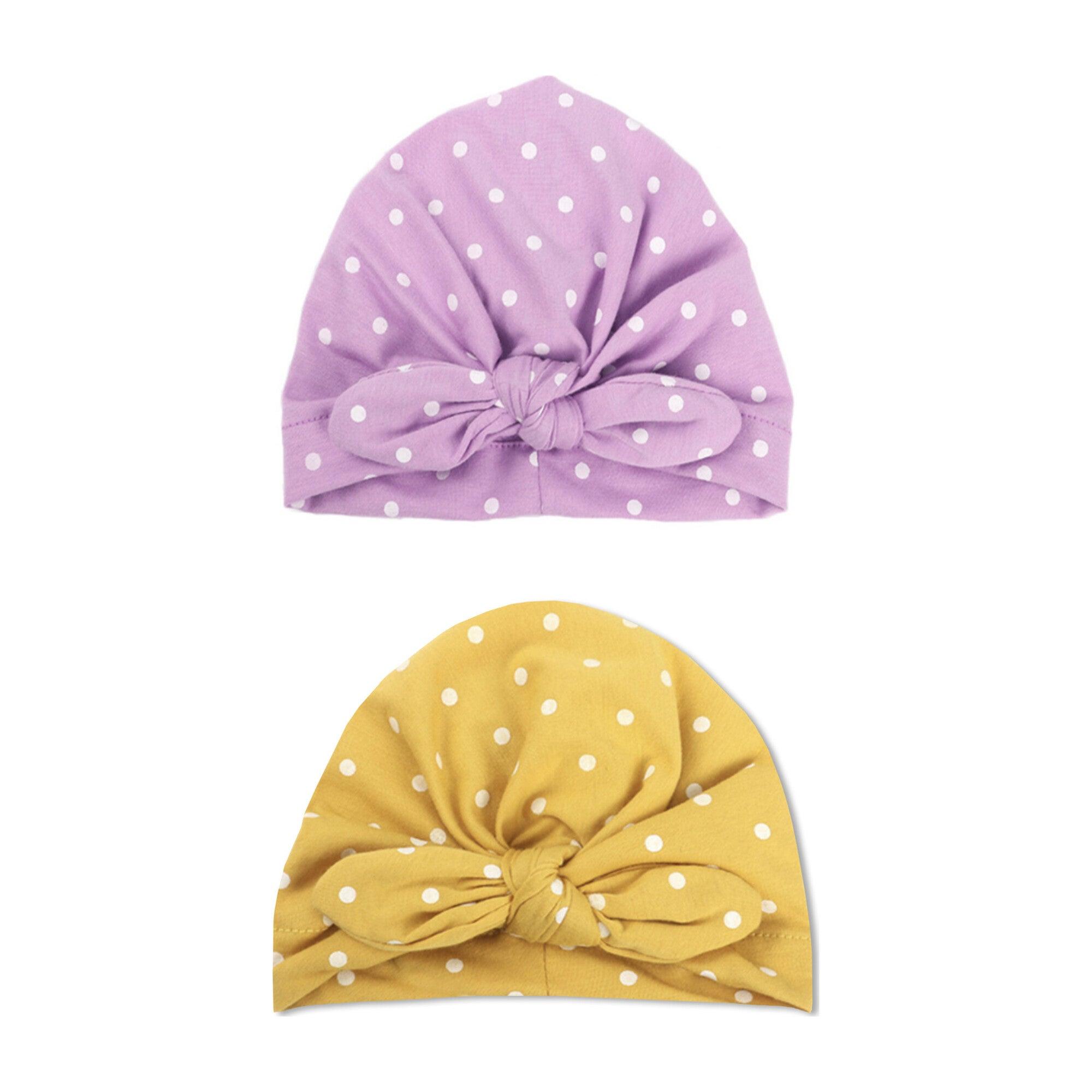 Baby Turban Set, Polka Dots