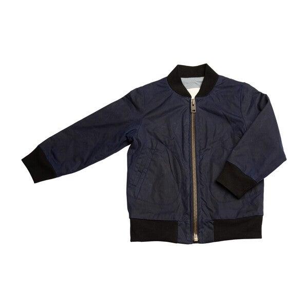Aviator Zip Jacket, Navy