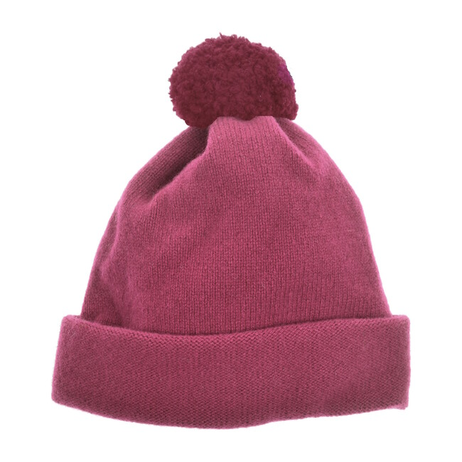 Argyll Bobble Hat, Pink Heather