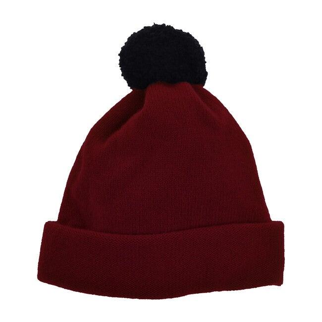 Argyll Bobble Hat, Russet Red