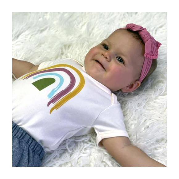 Rainbow Bodysuit, Ivory