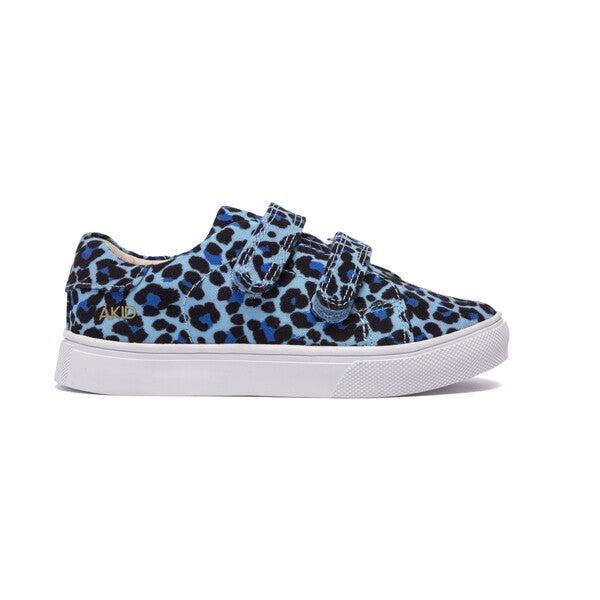 Mismatch Axel Velcro Sneaker, Ice Blue Leopard