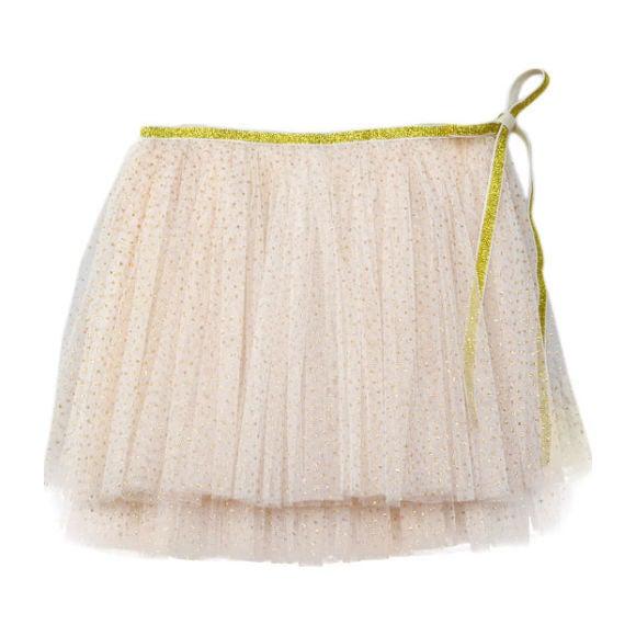 Glinda Wrap Skirt, Ivory and Gold