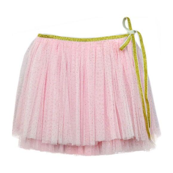 Glinda Wrap Skirt, Pink and Gold