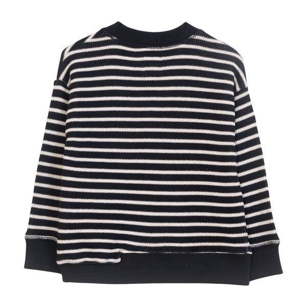 Striped Pullover, Black