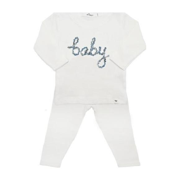 Baby Long Sleeve Two-Piece Set, Blue