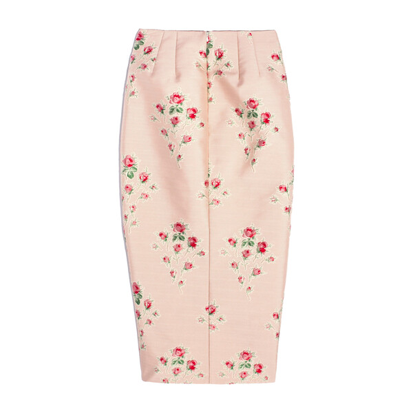 *Exclusive* Womens Pectolite Skirt, Floral Jacquard