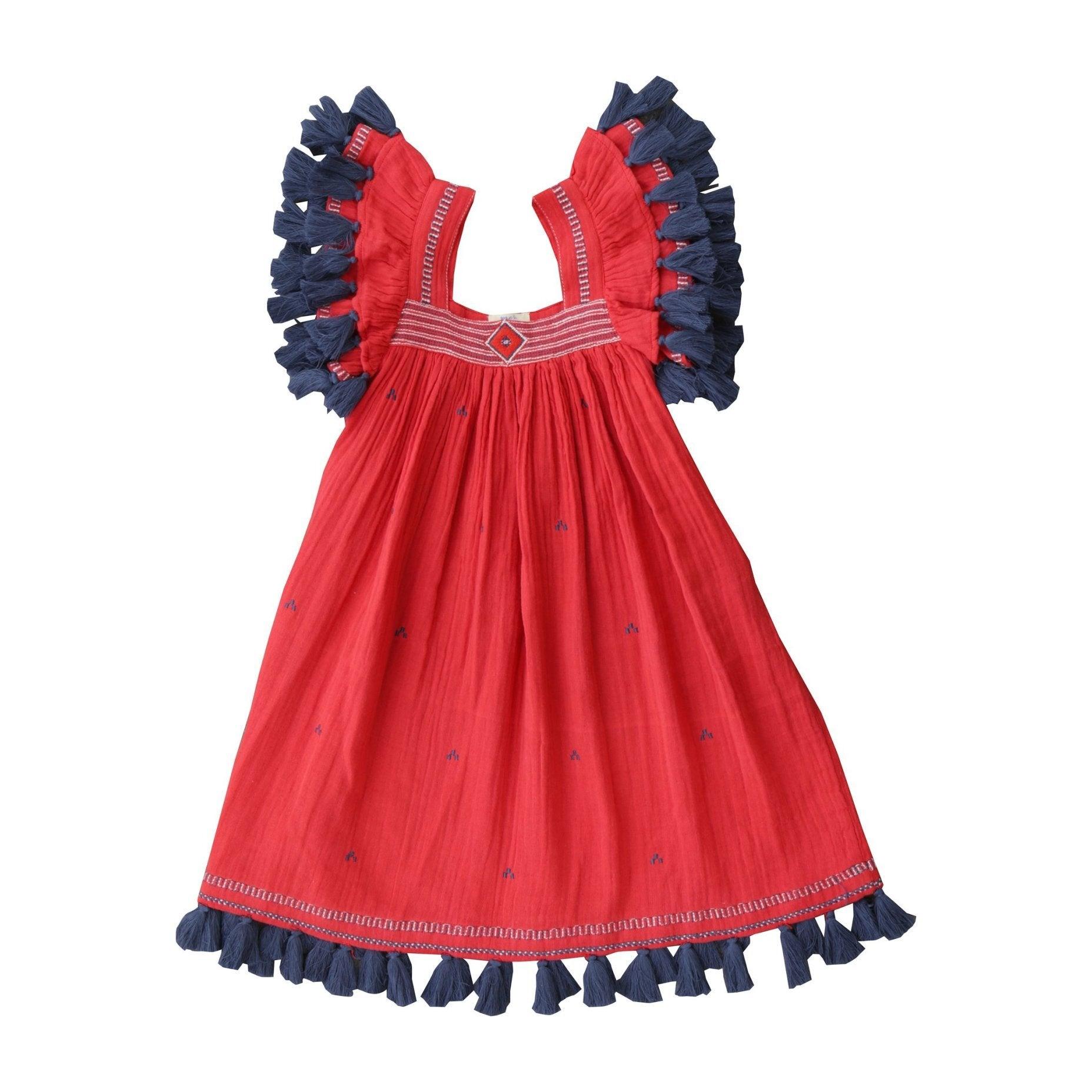 Serena Dress, Red Blaze