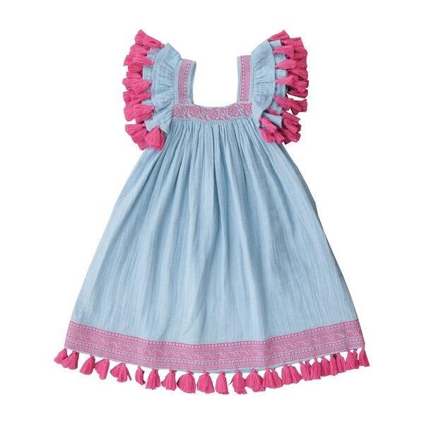 Serena Dress, Sky Blue