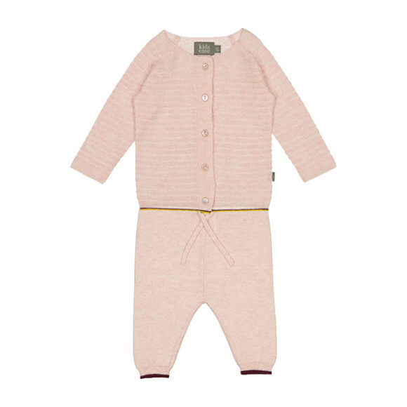Organic Cotton Knit Newborn Set, Light Pink