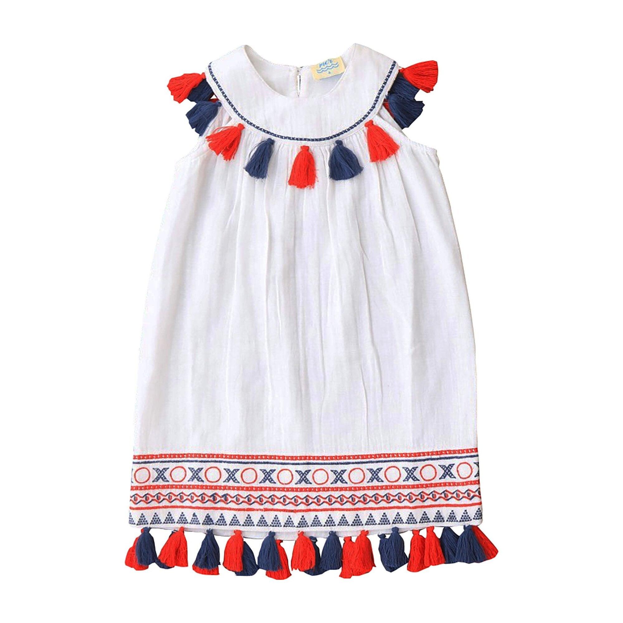 Katrina Dress, Red, White & Blue
