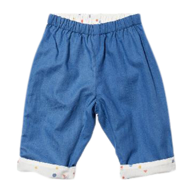 Reversible Baby Pant, Blue/Signature Dot