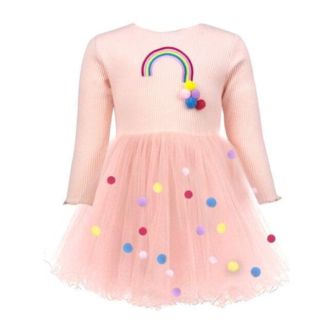 Rainbow & Pom Pom Dress