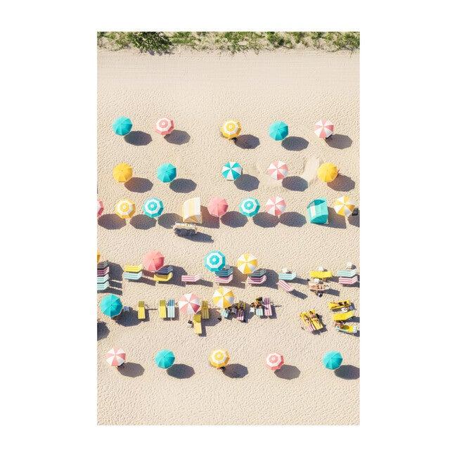Pastel Beach Umbreallas, Vertical