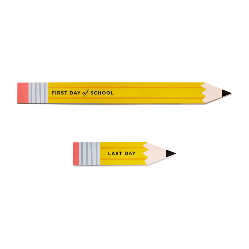 Oversized First (and Last!) Day of School Pencils