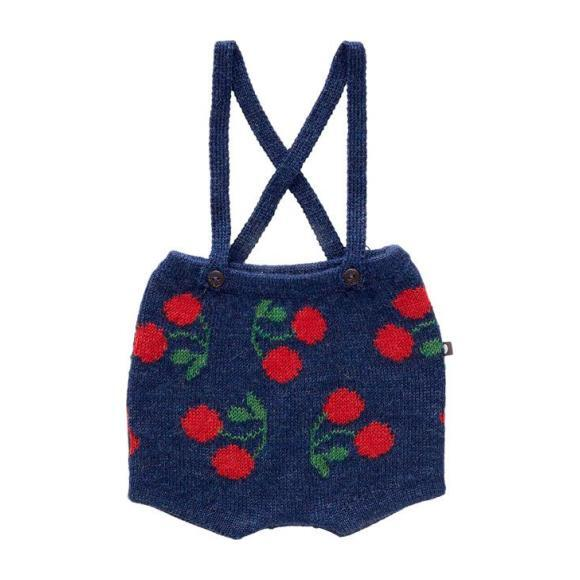 Cherry Shorts With Suspenders, Navy