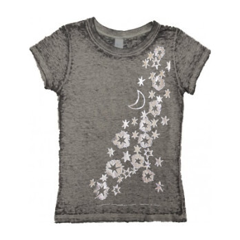 Milky Way Burnout Tee, Charcoal