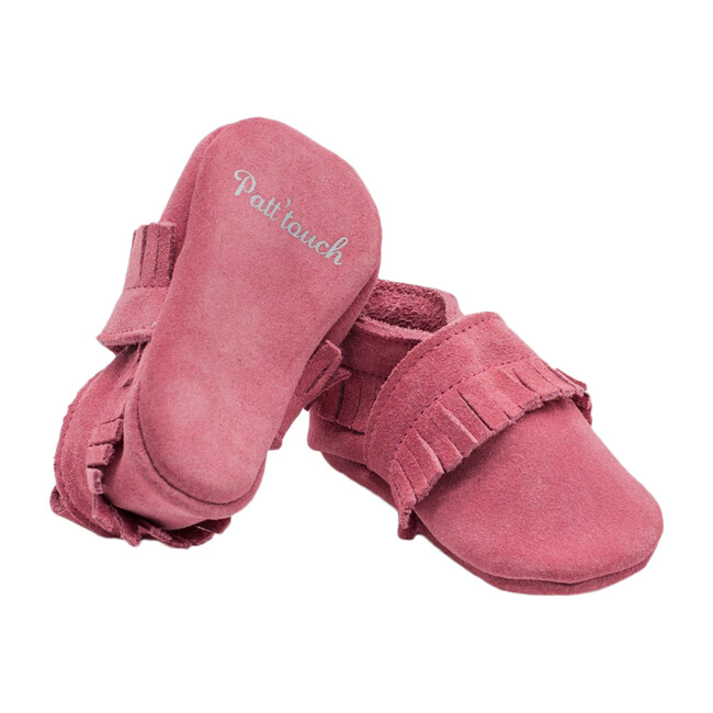 Maxence Slipper with Fringes, Pink