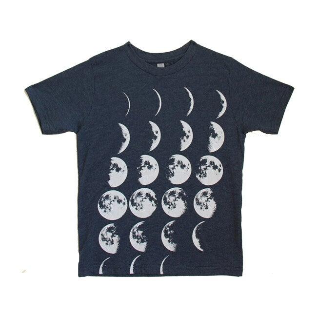 Many Moons Tee, Heather Navy