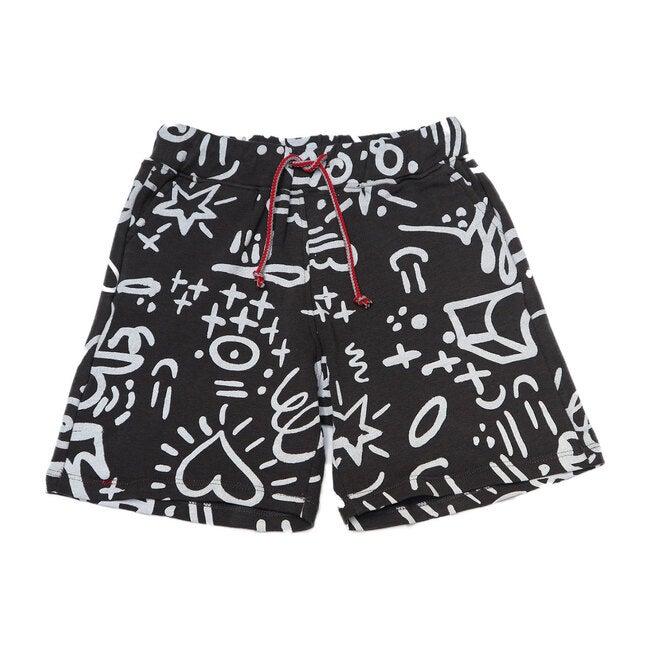 Graffiti Knit Shorts