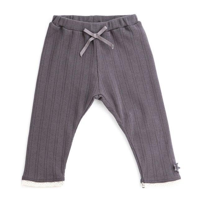 Openwork Legging, Grey