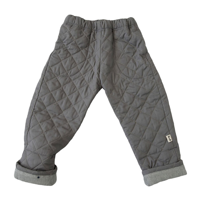Bum Patch Quilted Pant, Grey