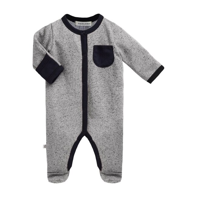 Baby Long Sleeve Romper with Footie, Ash Gray