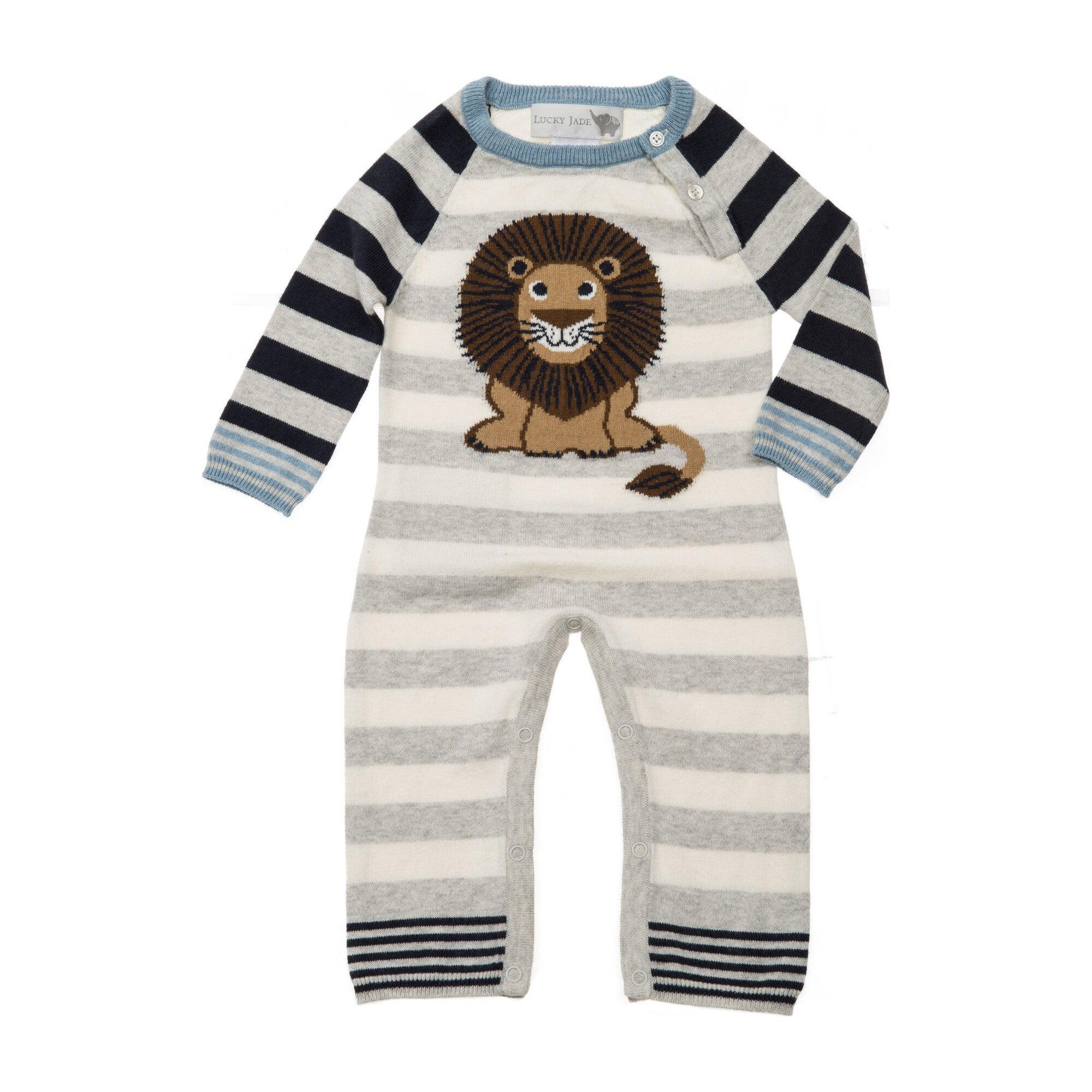 Lion Stripe Coverall, Grey