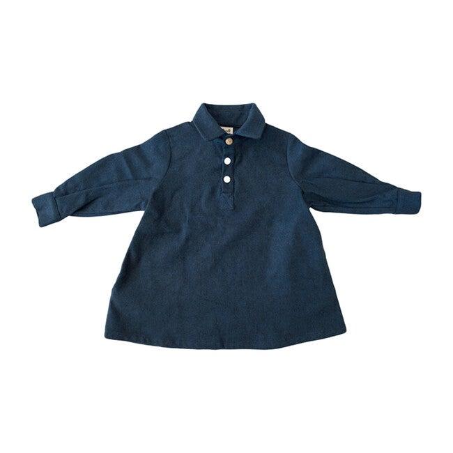 Painter Dress, Navy Flannel