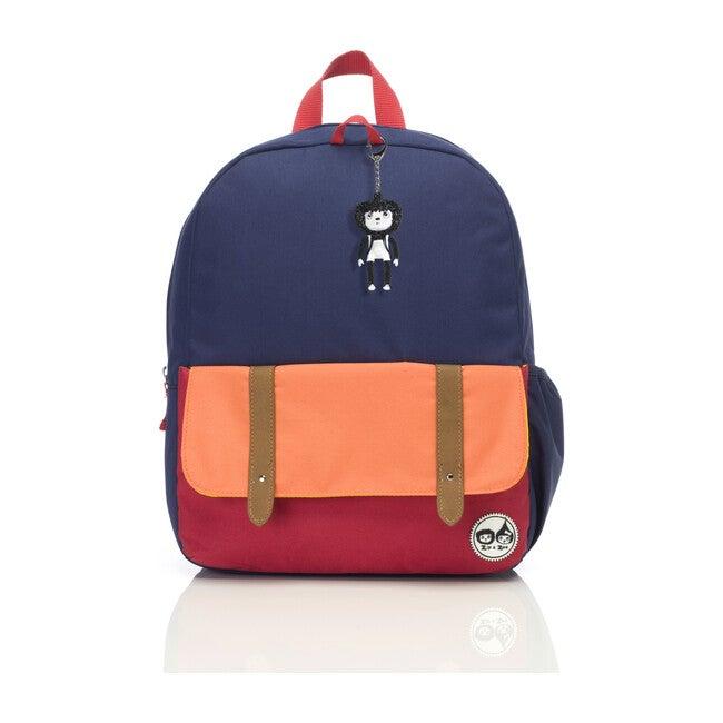 Junior Backpack, Navy Colorblock - Backpacks - 1