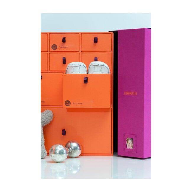 The Library Baby Keepsake Box, Plum