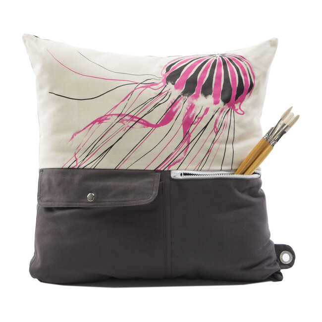 """""""Naturalist"""" Storage Pillow, JellyFish"""