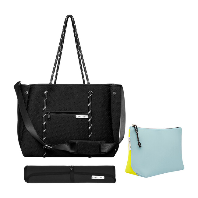 The Mum Set - Black Leader Carryall, Sprite Pouch, Black Mat - Diaper Bags - 1