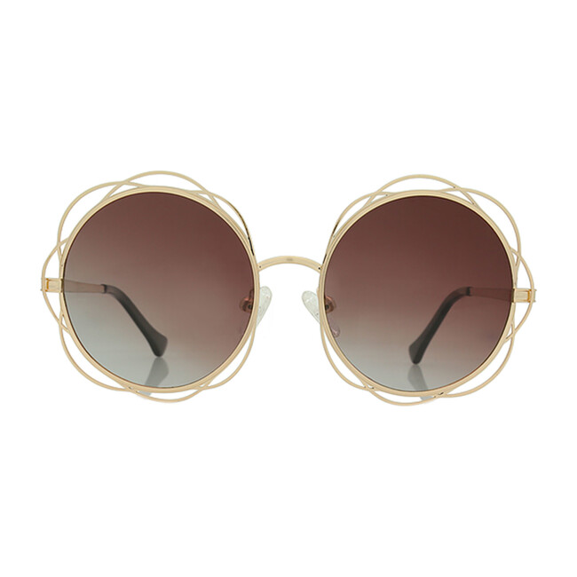 Sienna, Brushed Gold - Sunglasses - 1