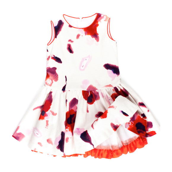 Elena Dress, Red Floral
